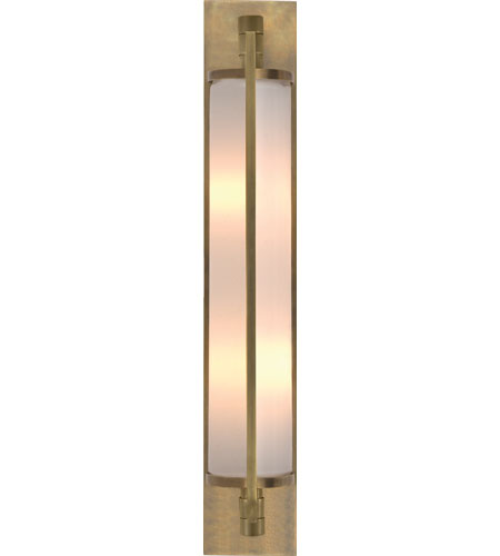 Visual Comfort TOB2031HAB WG Thomas OBrien Keeley 2 Light 4 Inch  Hand Rubbed Antique Brass Bath Wall Light
