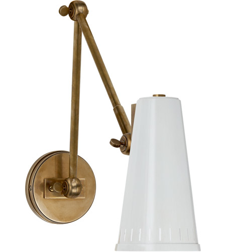 Merveilleux Visual Comfort TOB2066HAB AW Thomas OBrien Antonio 29 Inch 60 Watt  Hand Rubbed Antique Brass Adjustable Wall Lamp Wall Light In Antique White,  ...