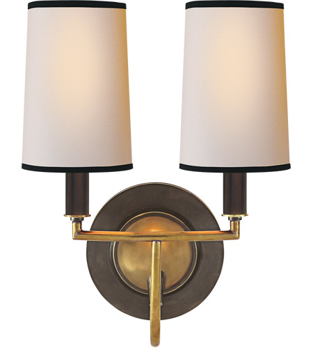 Visual Comfort TOB2068BZ/HAB-NP/BT Thomas O'Brien Elkins 2 Light 10 inch Bronze with Antique Brass Accents Decorative Wall Light photo