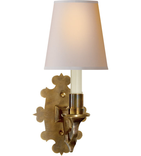 Visual Comfort TOB2070HAB-NP Thomas Obrien Leyland 1 Light 6 inch Hand-Rubbed Antique Brass Decorative Wall Light photo