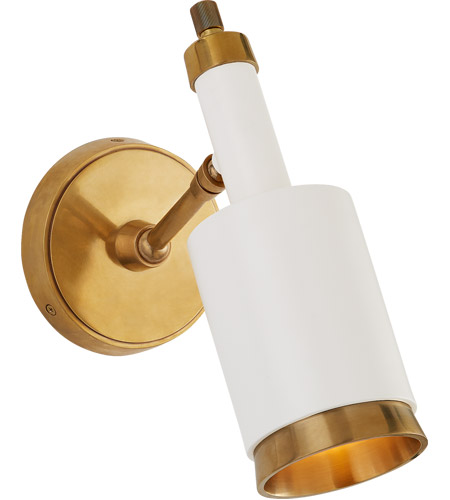 Visual Comfort TOB2097HAB/WHT Thomas OBrien Anders 1 Light 5 inch Hand-Rubbed Antique Brass and White Articulating Wall Sconce Wall Light Small  sc 1 st  Visual Comfort & Visual Comfort TOB2097HAB/WHT Thomas OBrien Anders 1 Light 5 inch ...