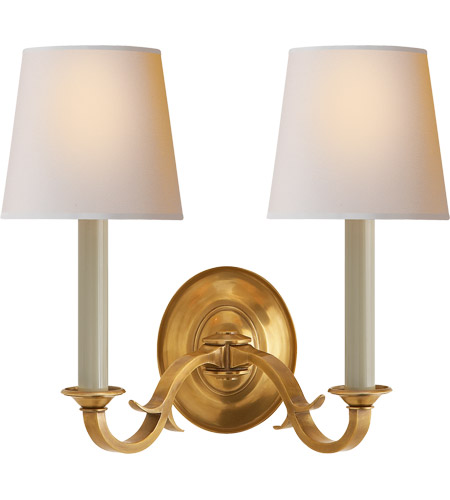 Visual Comfort TOB2121HAB-NP Thomas O'Brien Channing 2 Light 15 inch Hand-Rubbed Antique Brass Decorative Wall Light photo