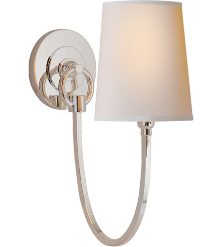 Visual Comfort TOB2125PN-NP Thomas OBrien Reed 1 Light 5 inch Polished Nickel Decorative Wall Light photo