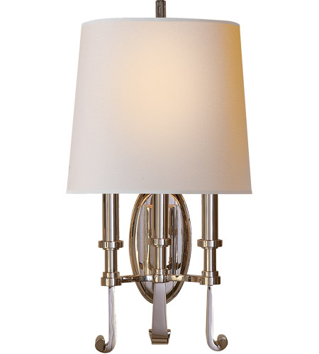 Visual Comfort TOB2137PN-NP Thomas O'Brien Calliope 3 Light 11 inch Polished Nickel Decorative Wall Light photo