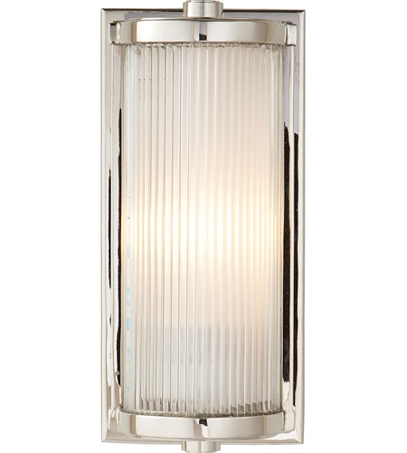 Bathroom Lighting Fixtures Polished Nickel visual comfort tob2140pn-fg thomas obrien dresser 1 light 5 inch