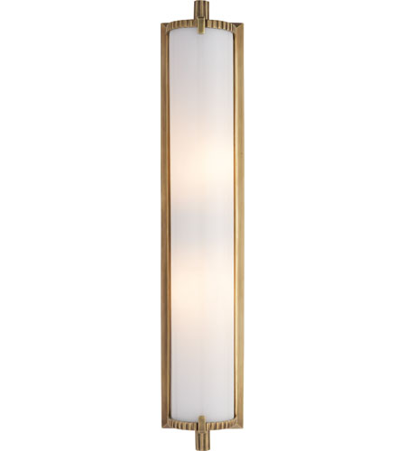 Visual Comfort Tob2185hab Wg Thomas Obrien Calliope 2 Light 4 Inch Hand Rubbed Antique Brass Bath Wall Light