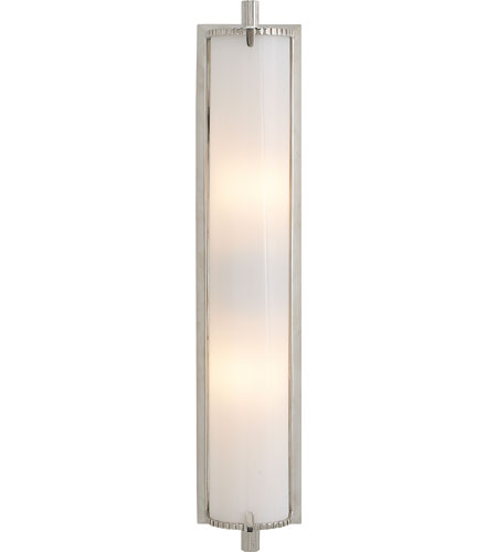 Visual Comfort TOB2185PN WG Thomas OBrien Calliope 2 Light 4 Inch Polished  Nickel Bath Wall Light