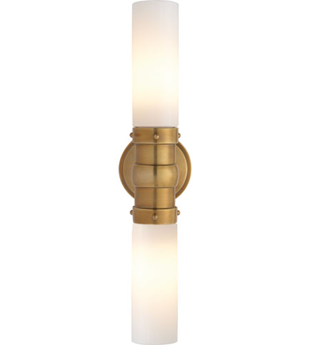 Bathroom Light Fixtures Antique Brass visual comfort tob2186hab-wg thomas obrien graydon 2 light hand