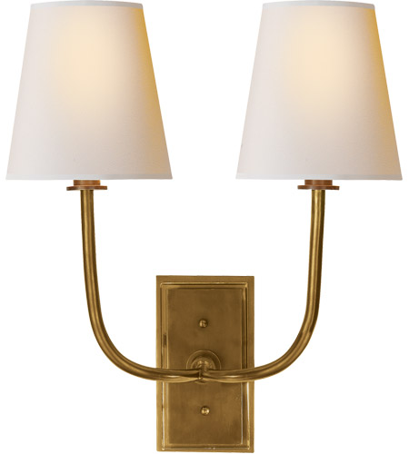 Visual Comfort TOB2191HAB-NP Thomas O'Brien Hulton 2 Light 14 inch Hand-Rubbed Antique Brass Decorative Wall Light photo