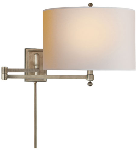 Visual Comfort Thomas OBrien Hudson 1 Light Swing-Arm Wall Light in Antique Nickel TOB2204AN-NP photo