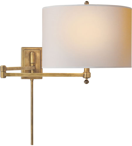 Wall Lamps Swing Arm Brass : Visual Comfort TOB2204HAB-NP Thomas OBrien Hudson 29 inch 40 watt Hand-Rubbed Antique Brass ...
