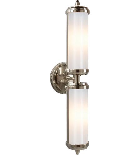 visual comfort tob2207chwg thomas obrien merchant 2 light 5 inch chrome bath wall light