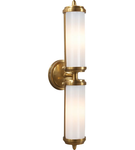 Visual Comfort TOB2207HAB-WG Thomas OBrien Merchant 2 Light 5 inch  Hand-Rubbed Antique Brass Bath Wall Light - Visual Comfort TOB2207HAB-WG Thomas OBrien Merchant 2 Light 5 Inch