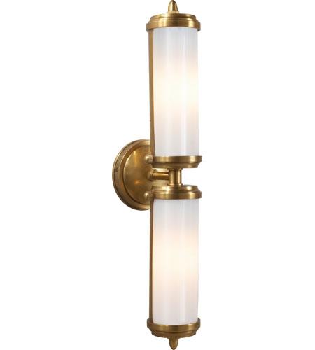 Visual Comfort Tob2207hab Wg Thomas Obrien Merchant 2 Light 5 Inch Hand Rubbed Antique Brass