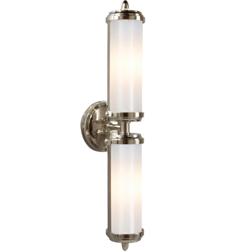 Bathroom Lighting Fixtures Polished Nickel visual comfort tob2207pn-wg thomas obrien merchant 2 light 5 inch
