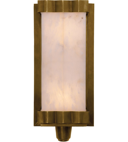 Visual Comfort TOB2250HAB-ALB Thomas OBrien Paulina Zig Zag 2 Light 7 inch Hand-Rubbed Antique Brass Decorative Wall Light photo