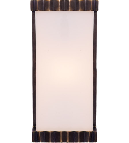 Visual Comfort TOB2252BZ-WG Thomas OBrien Paulina Zig Zag 1 Light 5 inch Bronze Bath Wall Light photo