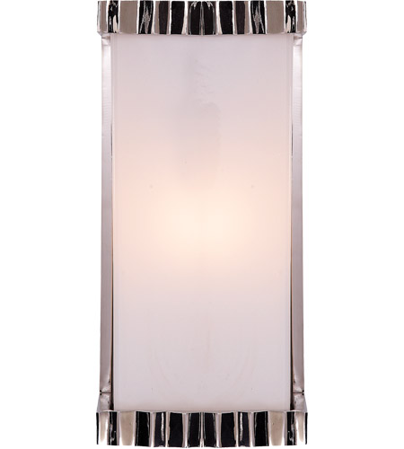 Visual Comfort TOB2252PN-WG Thomas O'Brien Zig Zag 1 Light 5 inch Polished Nickel Bath Wall Light photo