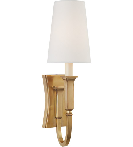 Visual Comfort TOB2272HAB-L Thomas O'Brien Delphia 1 Light 5 inch Hand-Rubbed Antique Brass Sconce Wall Light, Small photo