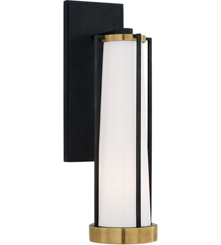 Thomas OBrien Calix LED 5 inch Bronze and Brass Bracketed Bath Sconce Wall  Light