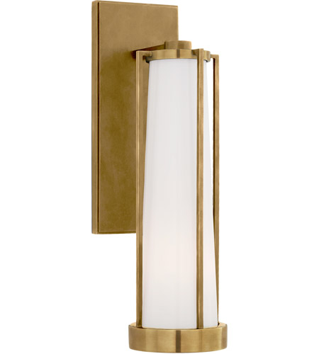 Thomas O'Brien Calix LED 5 inch Hand-Rubbed Antique Brass Bracketed Bath  Sconce Wall Light