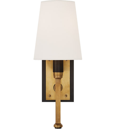 Visual Comfort TOB2283BZ/HAB-L Thomas O'Brien Watson 1 Light 5 inch Bronze and Hand-Rubbed Antique Brass Sconce Wall Light, Small Tail photo