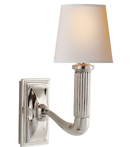 Visual Comfort TOB2335PN-NP Thomas O'Brien Gallois 1 Light 5 inch Polished Nickel Decorative Wall Light photo