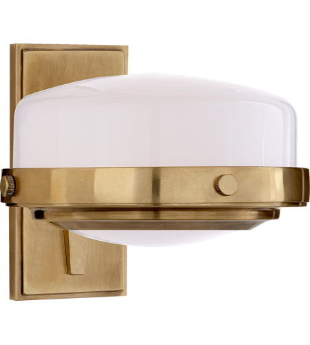 Visual Comfort TOB2511HAB-WG Thomas O'Brien Connor 1 Light 8 inch Hand-Rubbed Antique Brass Bath Sconce Wall Light photo
