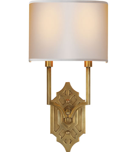 Visual Comfort TOB2600HAB-NP Thomas OBrien Silhouette 2 Light 9 inch Hand-Rubbed Antique Brass Decorative Wall Light photo