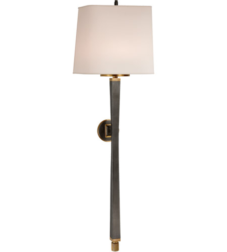 Visual Comfort TOB2741BZ/HAB-NP Thomas O'Brien Edie 2 Light 10 inch Bronze with Antique Brass Decorative Wall Light photo