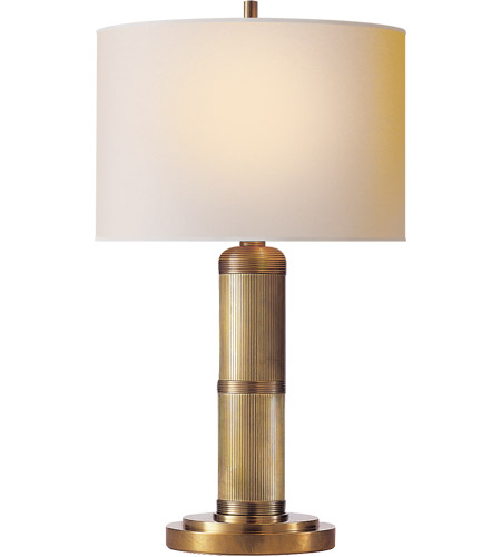 Visual Comfort TOB3000HAB-NP Thomas O'Brien Longacre 16 inch 25 watt Hand-Rubbed Antique Brass Decorative Table Lamp Portable Light photo