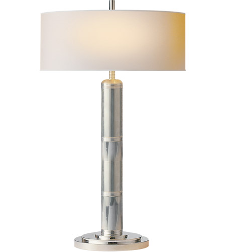 Visual Comfort TOB3001PN-NP Thomas O'Brien Longacre 33 inch 60 watt Polished Nickel Decorative Table Lamp Portable Light photo