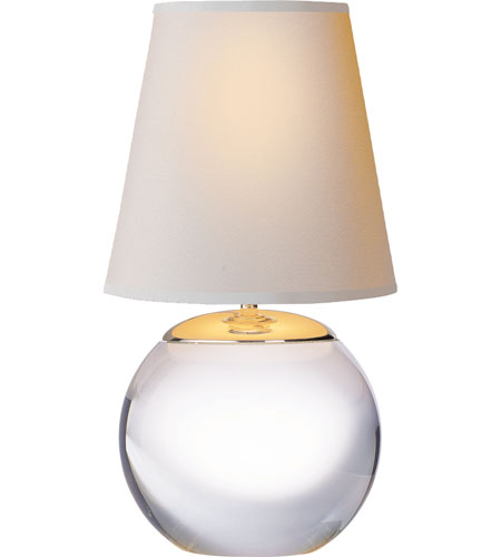Visual Comfort TOB3014CG-NP Thomas OBrien Terri 13 inch 40 watt Silver Decorative Table Lamp Portable Light in Crystal photo