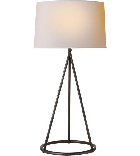 Thomas O Brien Nina 31 Inch 150 Watt Aged Iron Decorative Table Lamp Portable Light In Natural Paper