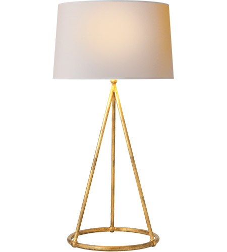 Visual Comfort TOB3026GI-NP Thomas O'Brien Nina 31 inch 150 watt Gilded Iron Decorative Table Lamp Portable Light in Natural Paper photo