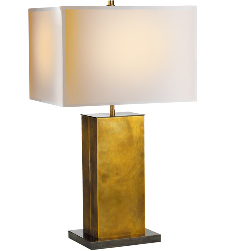 Visual Comfort TOB3033HAB/BZ-NP Thomas O'Brien Dixon 31 inch 60 watt Antique Brass with Bronze Decorative Table Lamp Portable Light in Natural Paper  photo