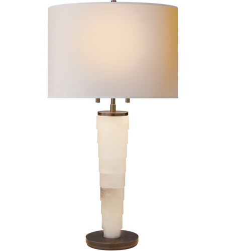 Thomas O Brien Stanford 27 Inch 60 Watt Alabaster Natural Stone Decorative Table Lamp Portable Light