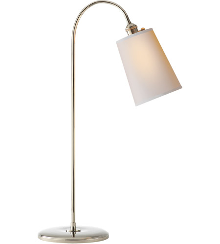 Visual Comfort TOB3222PN NP Thomas OBrien Mia 29 Inch 40 Watt Polished  Nickel Task Table Lamp Portable Light