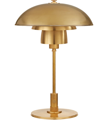 Visual Comfort TOB3513HAB HAB Thomas OBrien Whitman 19 Inch 60 Watt  Hand Rubbed Antique Brass Desk Lamp Portable Light