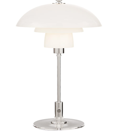 Visual Comfort Tob3513pn Wg Thomas Obrien Whitman 19 Inch 60 Watt Polished Nickel Desk Lamp Portable Light In White Gl