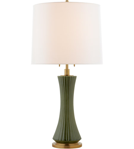 Visual Comfort Tob3655emg L Thomas Obrien Elena 32 Inch 60 Watt Emerald Green Table Lamp Portable Light Large