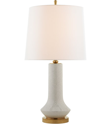 Visual Comfort Tob3657wtc L Thomas O Brien Luisa 31 Inch 60 00 Watt White Crackle Table Lamp Portable Light Large