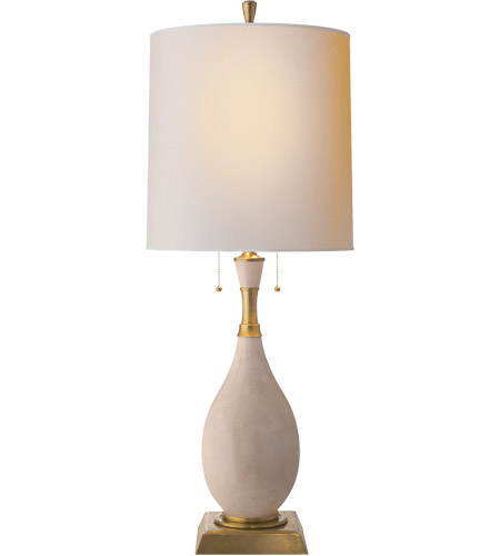 Visual Comfort TOB3710TS-NP Thomas O'Brien Tamaso 31 inch 60 watt Tea Stain Porcelain Decorative Table Lamp Portable Light photo