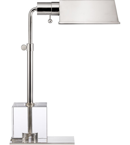 Visual Comfort TOB3725PN Thomas O'Brien Jennings Pharmacy 17 inch 60 watt Polished Nickel Task Table Lamp Portable Light photo