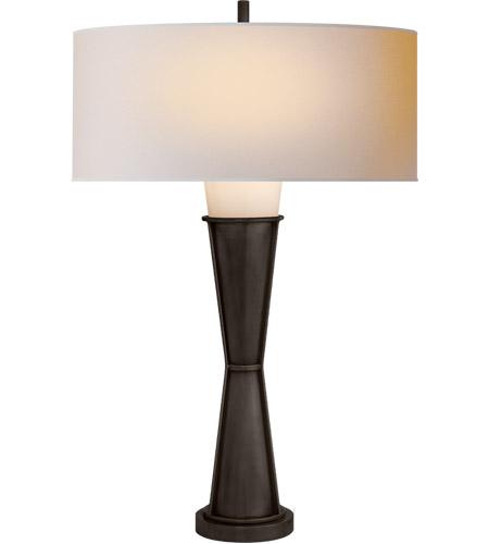 Visual Comfort Tob3751bz Wg Np Thomas Obrien Robinson 26 Inch 100 Watt Bronze Table Lamp Portable Light O Brien Small Natural Paper Shade