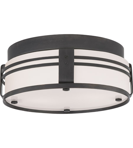 Visual Comfort TOB4003BZ Thomas O'Brien Ted 2 Light 15 inch Bronze Flush Mount Ceiling Light photo