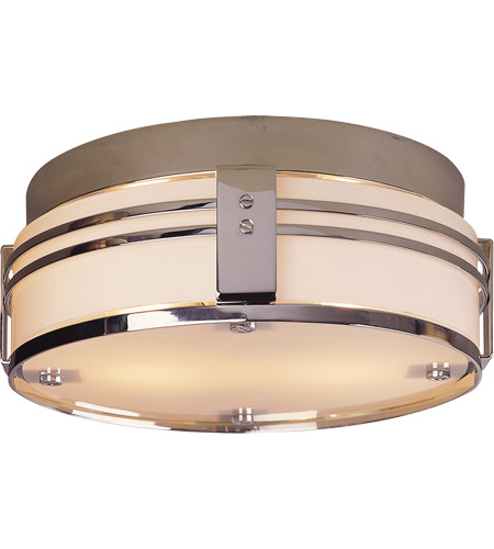 Visual Comfort TOB4003CH Thomas O'Brien Ted 2 Light 15 inch Chrome Flush Mount Ceiling Light photo