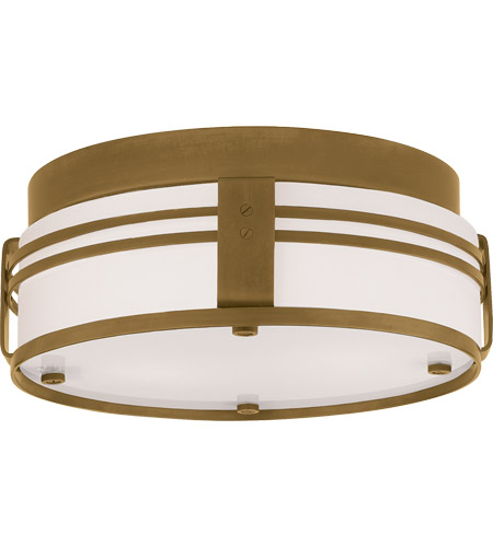 Visual Comfort TOB4003HAB Thomas O'Brien Ted 2 Light 15 inch Hand-Rubbed Antique Brass Flush Mount Ceiling Light photo