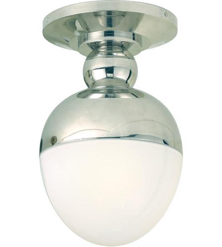 Visual Comfort Tob4006pn Wg Thomas Obrien Clark 1 Light 8 Inch Polished Nickel Flush Mount Ceiling