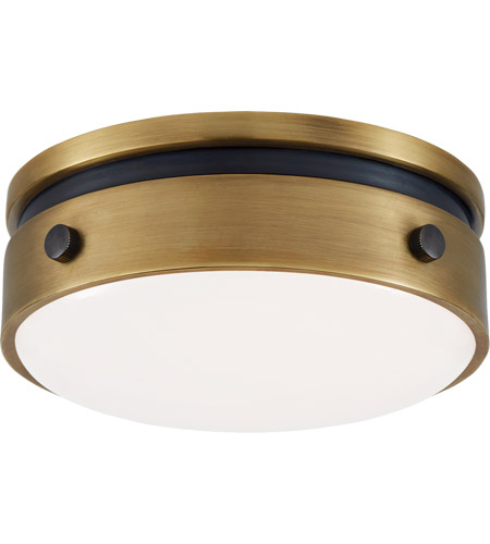 Visual Comfort TOB4062BZ/HAB-WG Thomas O'Brien Hicks LED 6 inch Bronze and Hand-Rubbed Antique Brass Flush Mount Ceiling Light, Petite photo